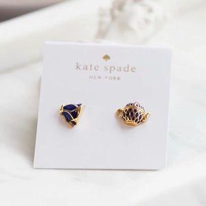 Kate Spade Tea Time Stud Earrings Teapot and Cup